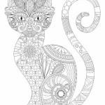 Антистресс раскраски Кошка