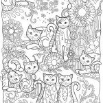 Картинка раскраска кошка