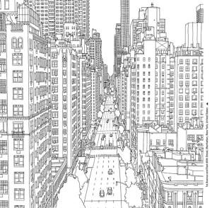 Раскраски для взрослых город