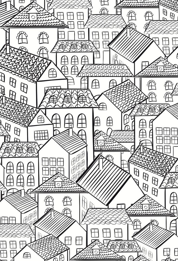 Схема города раскраска
