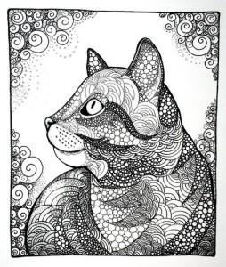 Антистресс красивая кошка
