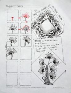 Зентангл узоры цветы