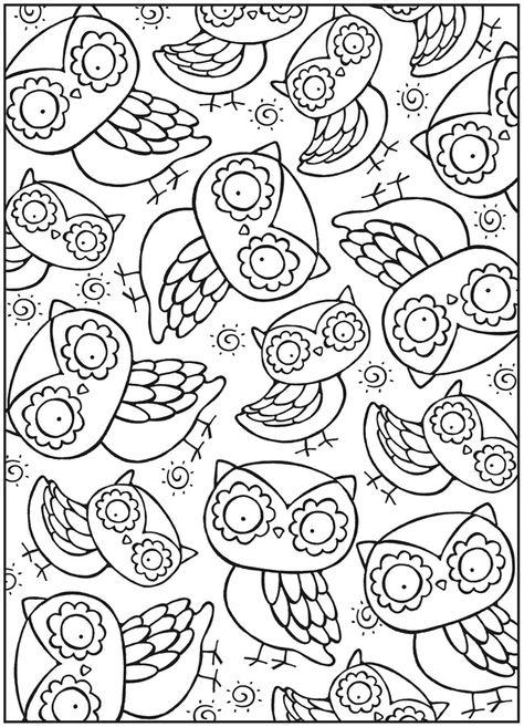картинка совы а4