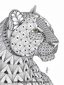 Раскраски антистресс животные гепард