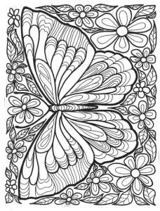 Раскраски антистресс животные бабочка