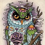 Раскраска сова