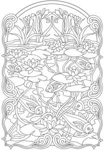 Раскраски антистресс животные рыбы