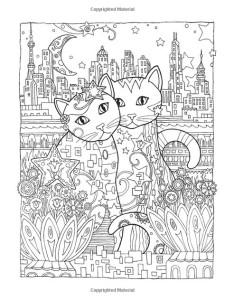 Антистресс раскраски две кошки