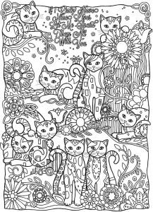 Антистресс раскраски кошки