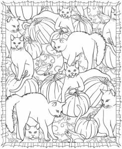 Антистресс раскраски много кошек