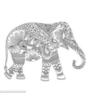 Раскраски антистресс животные слон