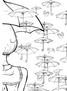 Кототерапия Коты с зонтами
