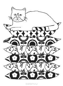 Кототерапия Кот на подушках