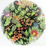 Раскрашенные раскраски растительные мотивы