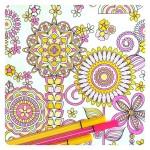 Раскрашенные раскраски цветочки