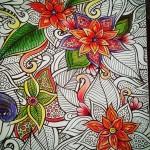 Раскрашенные раскраски цветы