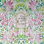 Раскрашенные раскраски волшебный сад