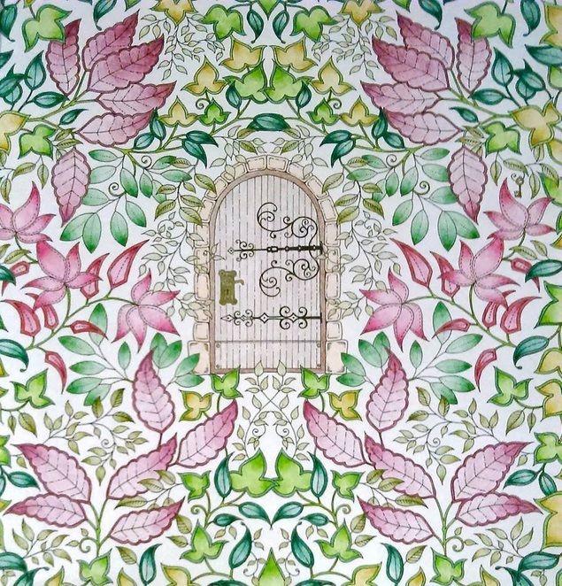 Раскраска таинственный сад как раскрасить