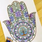 Раскрашенные раскраски рука индия