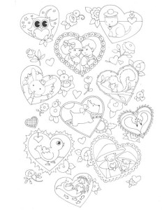 картинка сердце раскраска