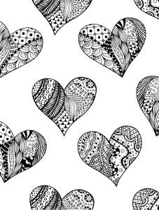 Разукрашка сердца