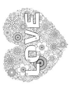раскраска love