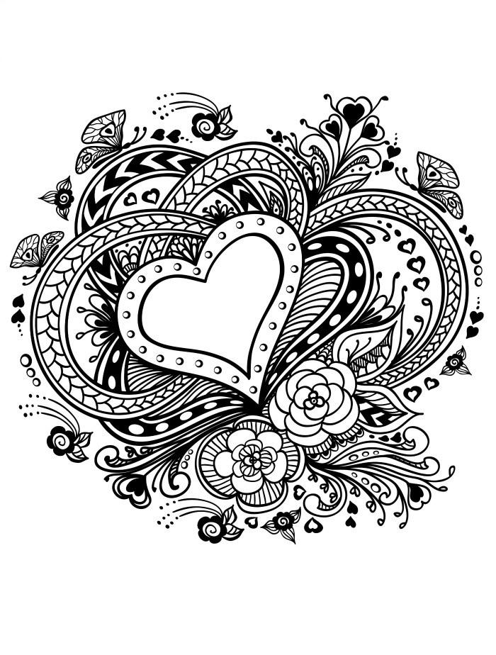 Раскраска на день валентин