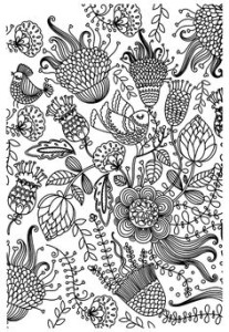 Картинки антистресс для раскрашивания - цветы и орнаменты
