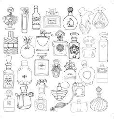 Картинки антистресс для раскрашивания - парфюм