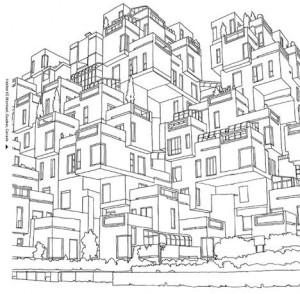 Картинки антистресс для раскрашивания - Архитектура