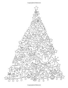 раскраска антистресс наряженная елка
