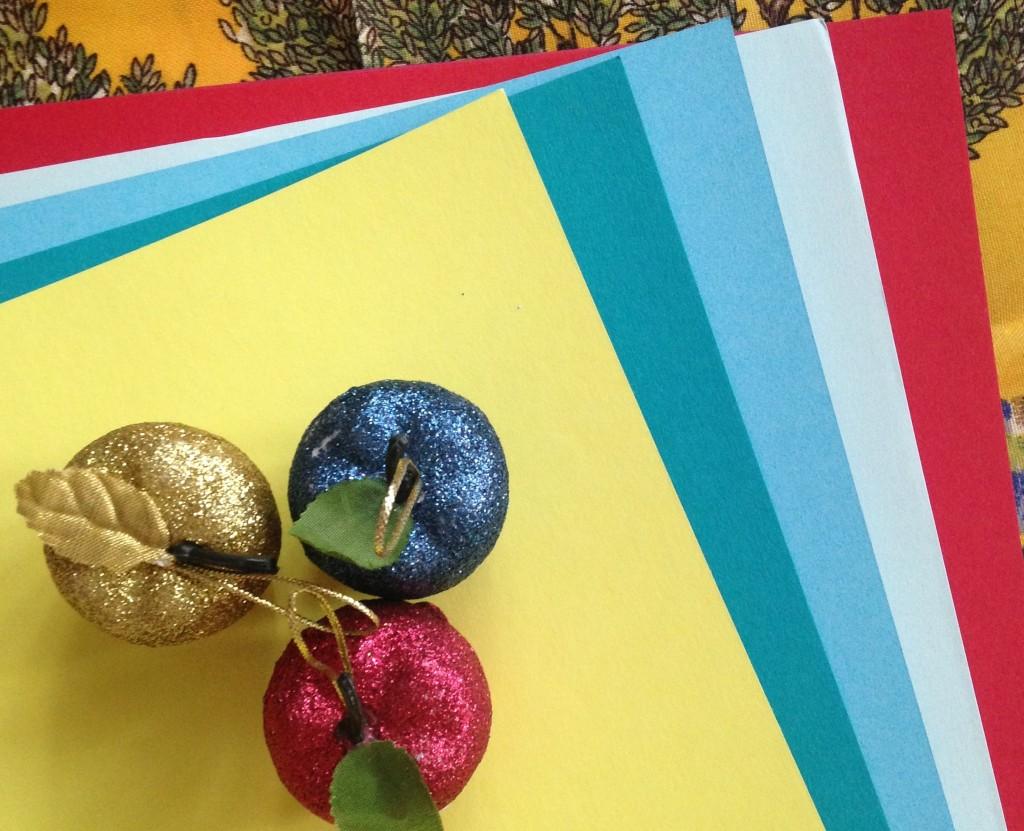 бумага для новогодней открытки