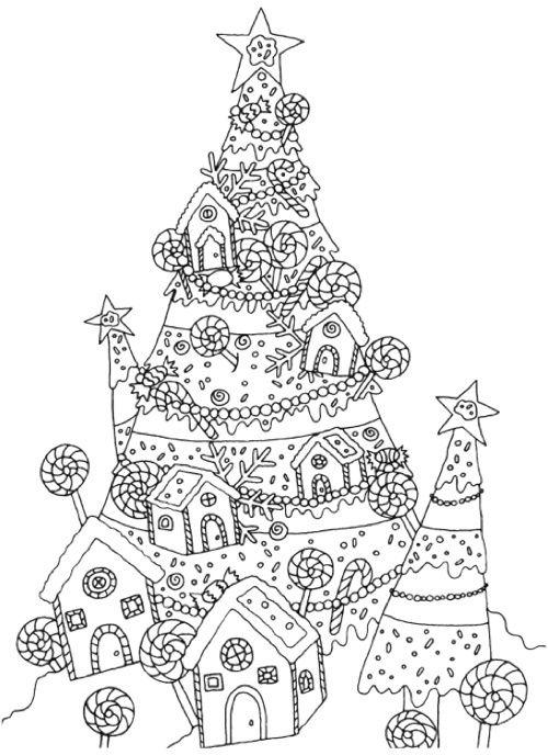 раскраска новогодняя елка | Радость творчества