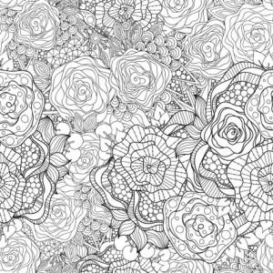 Раскраски цветы красивые