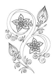 Цветы картинки раскраски