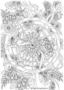 Раскраска цветы распечатать