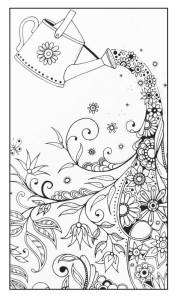 Антистресс раскраски цветы распечатать
