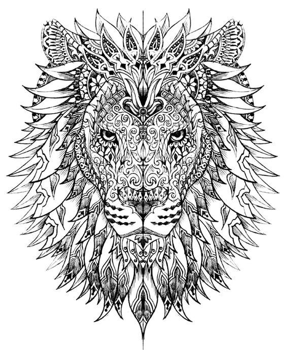 картинки лев для срисовки