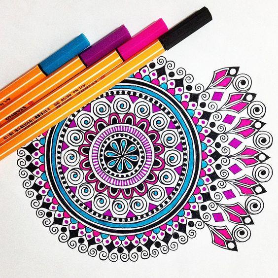 мандалы цветные картинки