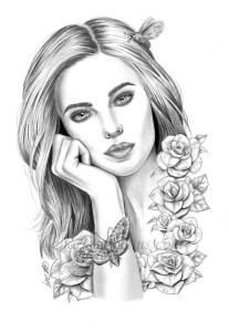 Раскраска девушка