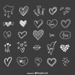 сердце дудлинг