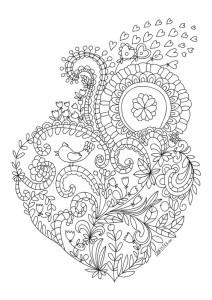 раскраски антистресс день святого валентина