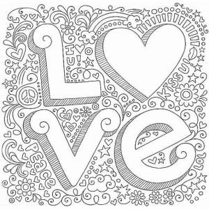раскраска любовь love