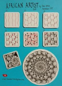 Уроки рисования Зентангл (Zentangle) для начинающих схемы Подборка 3