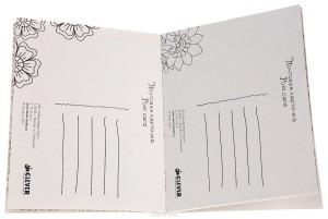 раскраска открытка антистресс волшебные цветы оборот
