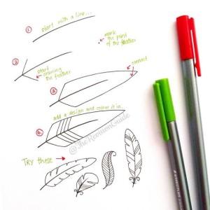 как рисовать перо