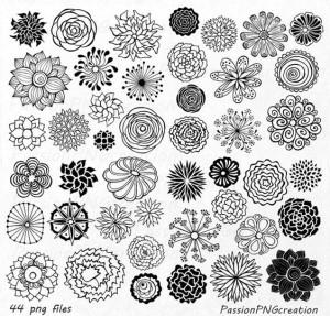 рисунки для срисовки цветы