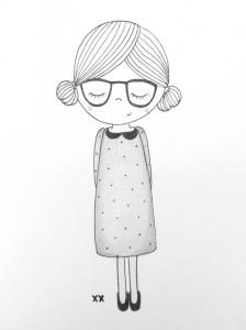 девушка карандашом для начинающих срисовки
