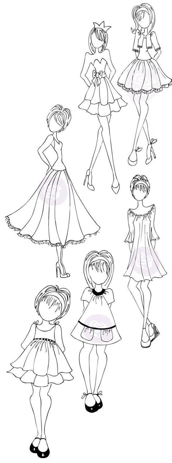 Девушка в платье фото для срисовки