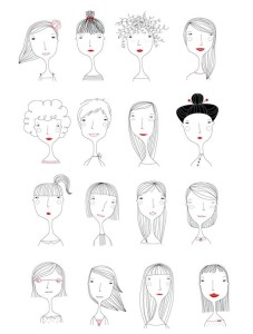 рисунки для срисовки девушки